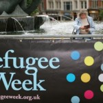 Refugee Week Banner - Photograph by Amaya Roman