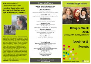 Refugee Week Leaflet 2016
