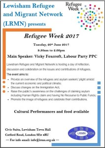 Refugee week flyer