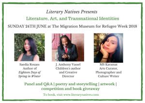 Literary Natives June 24th