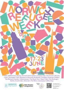 norwich refugee week design Clocktower 500x700