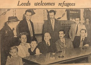 headline YEP 27.12.56 Leeds Welcomes Refugees