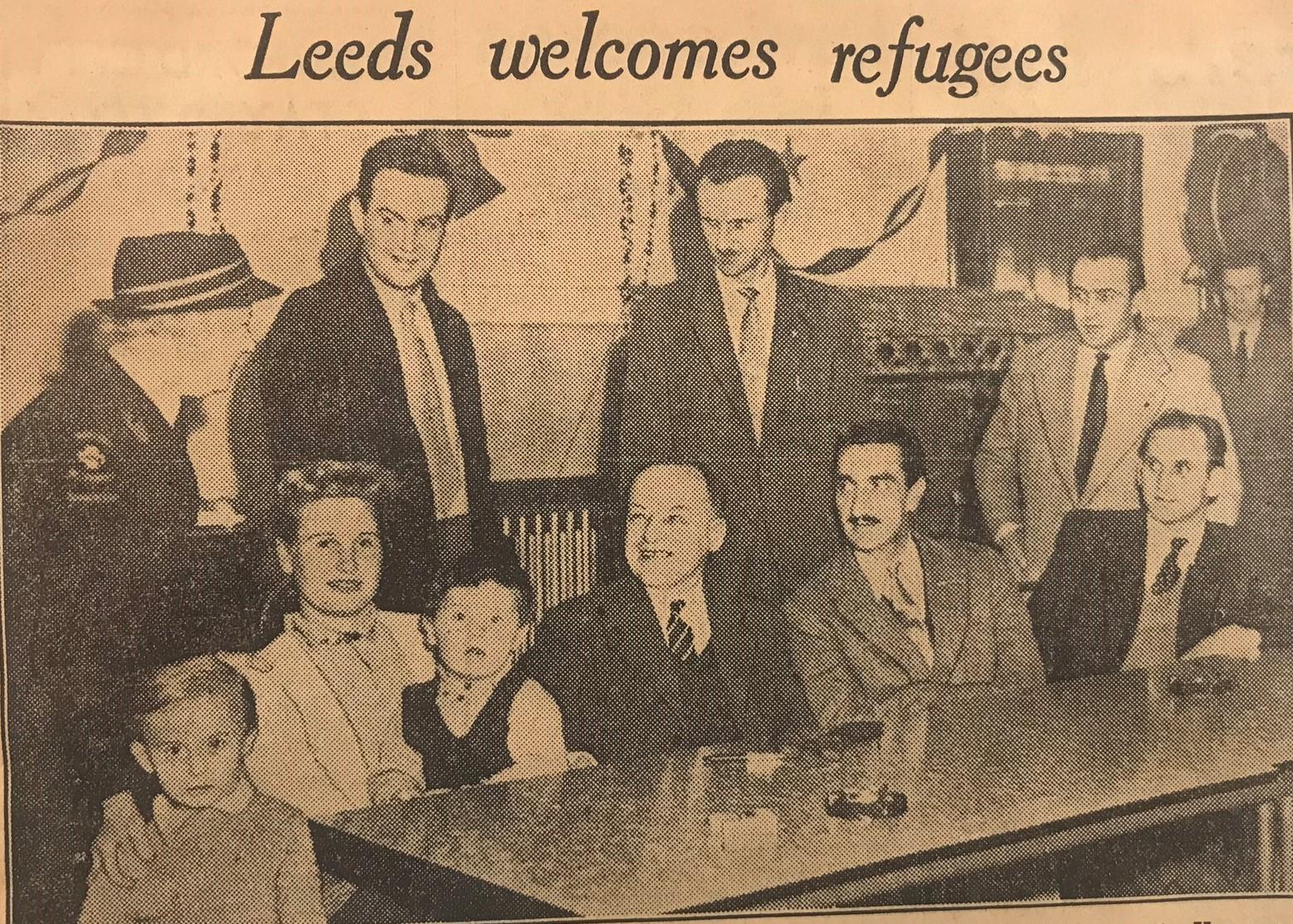 headline YEP 27.12.56 Leeds Welcomes Refugees