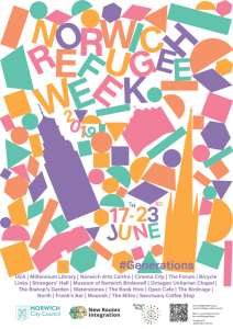 norwich refugee week design Clocktower 500x700
