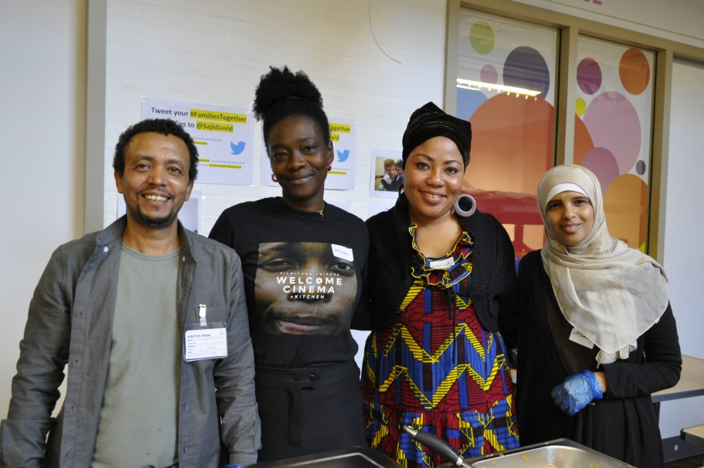Chefs from Welcome Kitchen and friends at Refugee Week Conference 2019