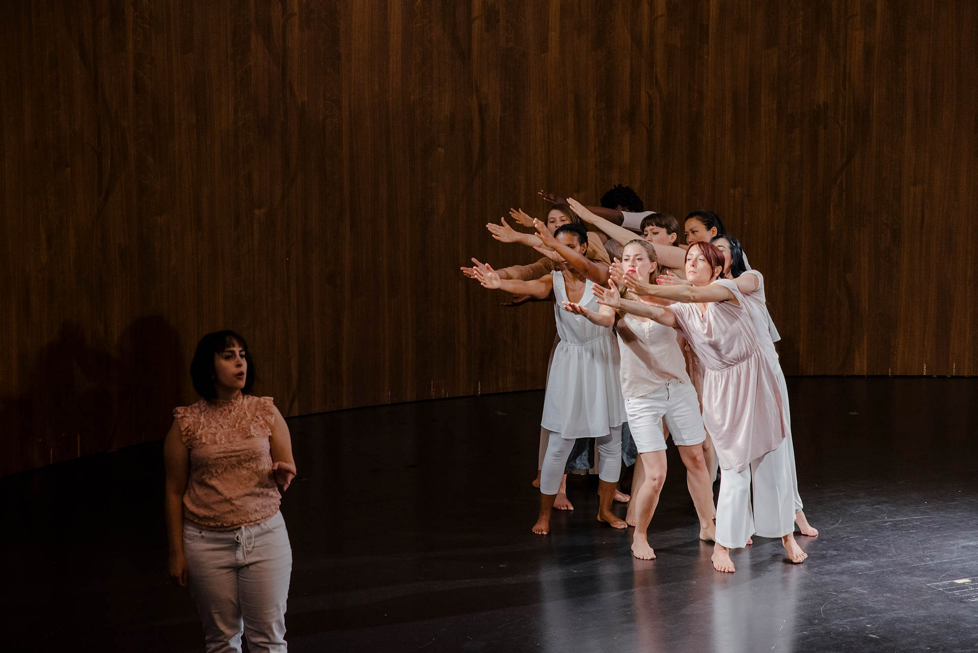 Image: Hawiyya Dance Co. perform at V&A for Refugee Week 2018