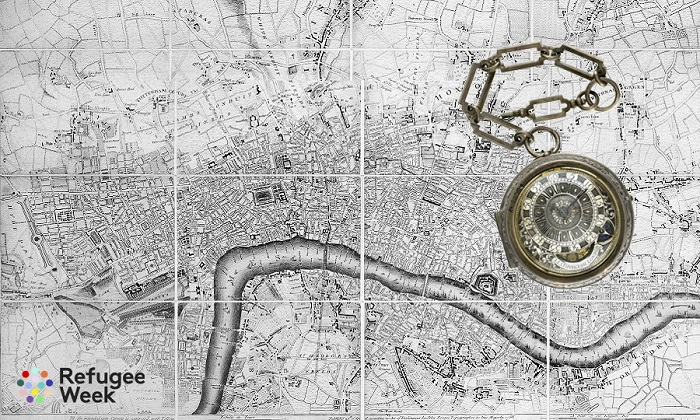 A plan of London with all the new streets, lanes and roads to this present year by John Rocque topographer to his Majesty. John Rocque collaborated with the engravers George Virtue and John Pine to produce this map of London and the surrounding countryside, which he began surveying in 1738. The map was published in 24 sheets and remains the most accurate plan of London produced during the 18th century. Rocque was a land surveyor and cartographer born in France to a Huguenot family. They fled France for Geneva and then England.  Rocque maintained close ties with the French Protestant community in London throughout his life.