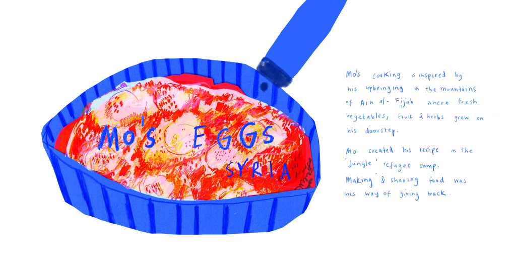 refugee week mos eggs with text