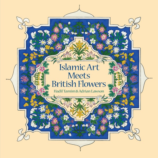 Book cover showing Islamic pattern featuring British flowers